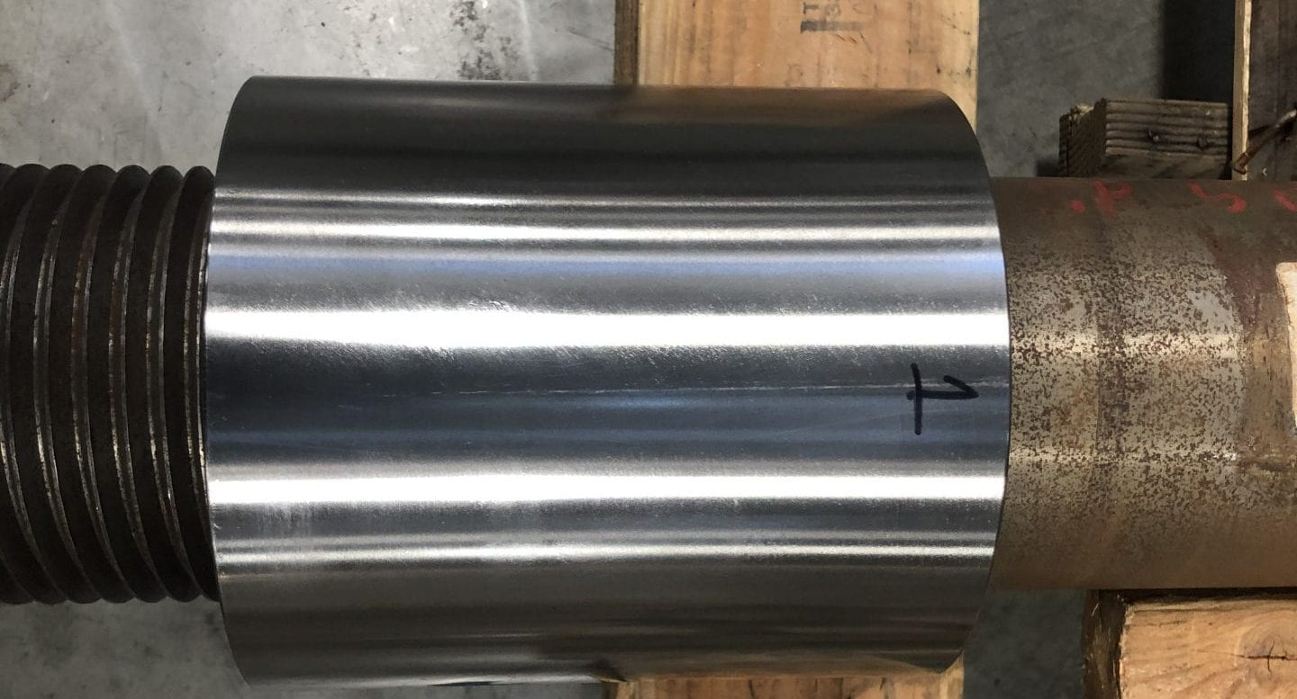 ICS Shaft Sleeve on Test Shaft